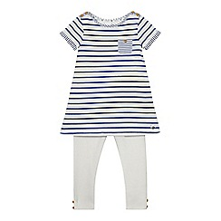 J by Jasper Conran - Girls' blue striped top and bottoms set