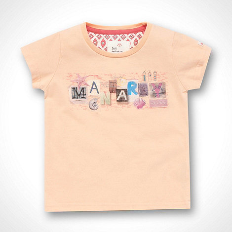 Mantaray - Girl+s peach beach collage printed t-shirt