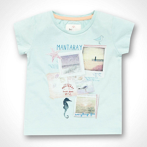 Mantaray - Girl+s aqua postcard printed t-shirt
