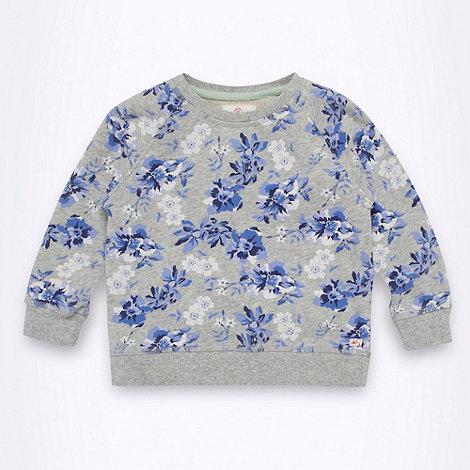 Mantaray - Girl+s light grey floral sweat top