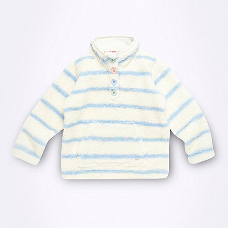 Mantaray - Girl+s blue striped fleece top