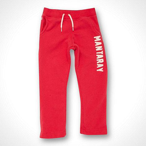 Mantaray - Girl+s pink applique logo jogging bottoms