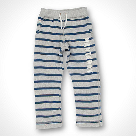 Mantaray - Boy+s grey striped straight leg jogging bottoms
