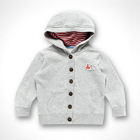 Mantaray - Girl+s grey button through hoodie