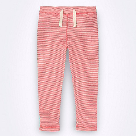 Mantaray - Girl+s pink fine striped jersey leggings