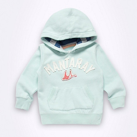 Mantaray - Girl's aqua logo sweat hoodie