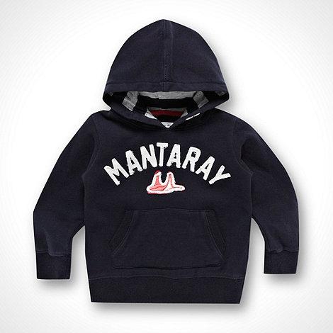 Mantaray - Girl+s navy logo hoodie
