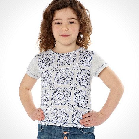 Mantaray - Girl+s blue floral printed top
