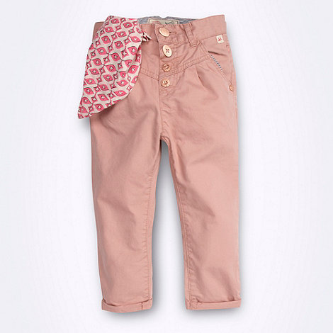 Mantaray - Girl+s pink trousers and neck tie