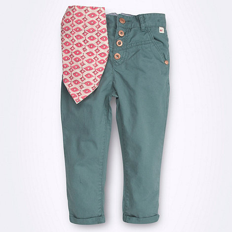 Mantaray - Girl+s light green trousers and neck tie