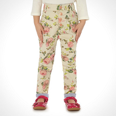 Mantaray - Girl+s multi floral printed trousers