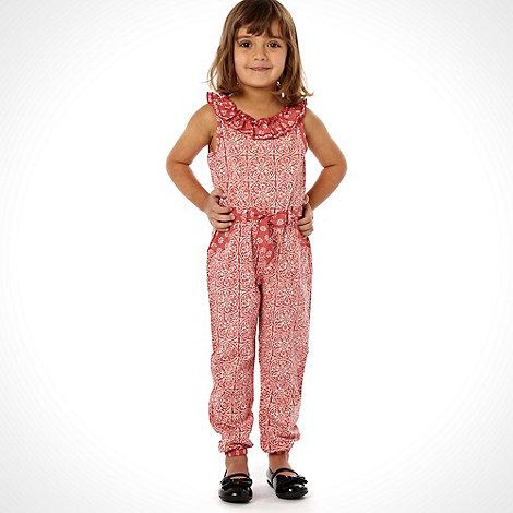 Mantaray - Pink girl+s wovan jumpsuit