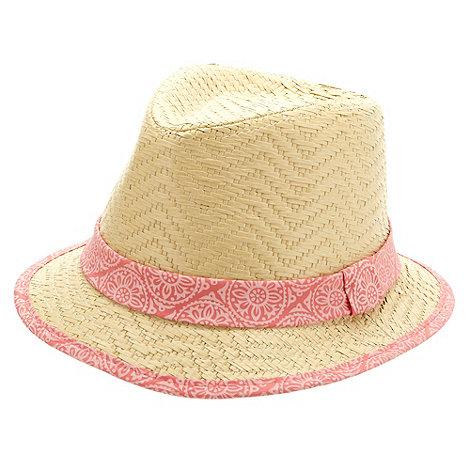 Mantaray - Girl+s natural woven trilby hat