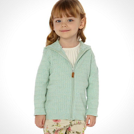 Mantaray - Girl+s aqua hooded cardigan