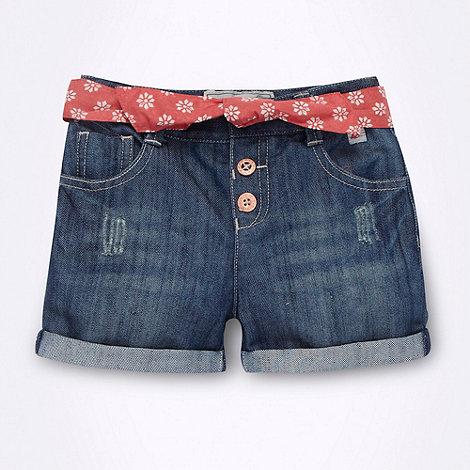 Mantaray - Girl+s blue denim shorts