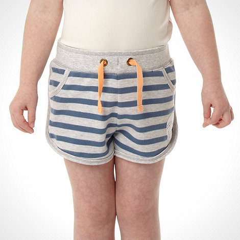 Mantaray - Girl's multi striped sweat shorts