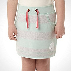 Mantaray - Girl's aqua striped sweat skirt