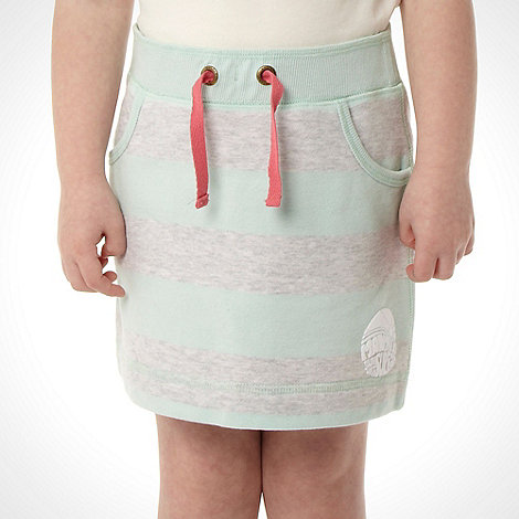 Mantaray - Girl+s aqua striped sweat skirt