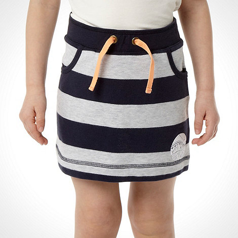 Mantaray - Girl+s navy striped sweat skirt