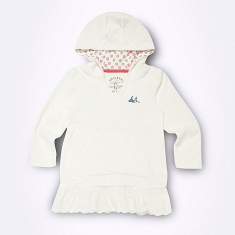 Mantaray - Girl+s white hooded cover up