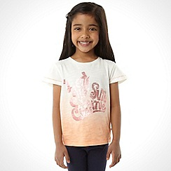 Mantaray - Girl's orange 'Let the sun shine' t-shirt