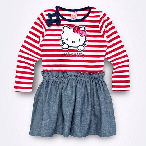 Hello Kitty - Girl+s blue +Hello Kitty+ chambray skirt dress
