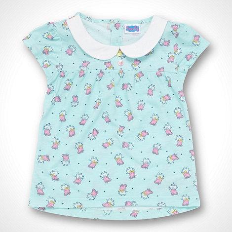 Peppa Pig - Girl+s aqua +Peppa Pig+ jersey t-shirt