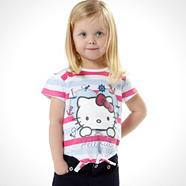 Girl's multi 'Hello Kitty' top