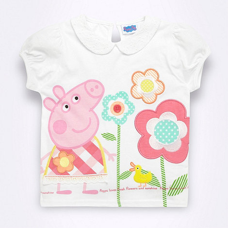 Peppa Pig - Girl+s white +Peppa Pig+ t-shirt