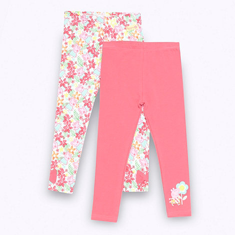 Peppa Pig - Girl's pack of two pink 'Peppa Pig' leggings