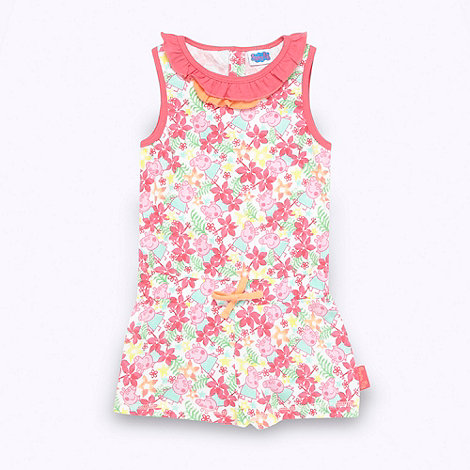 Peppa Pig - Girl+s pink +Peppa Pig+ playsuit