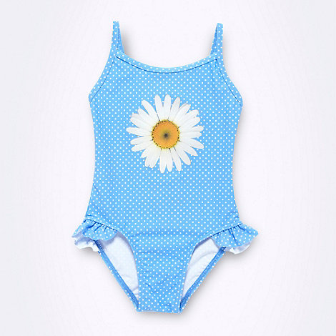 bluezoo - Girl+s blue daisy swimsuit