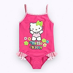 Hello Kitty - Girl's pink 'Hello Kitty' flower swimsuit