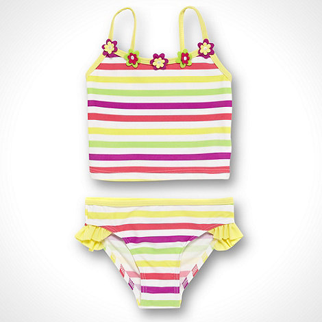 bluezoo - Girl+s yellow striped tankini