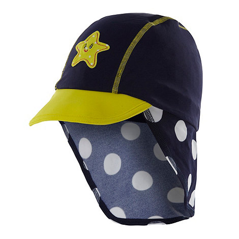 bluezoo - Girl+s navy applique starfish swim hat