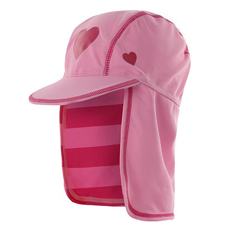 bluezoo - Girl's pink striped swim hat