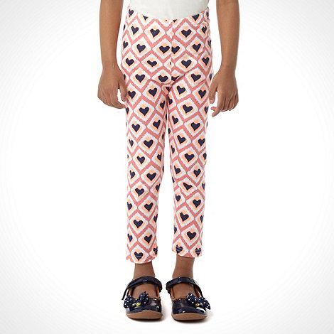 bluezoo - Girl+s multi heart printed leggings