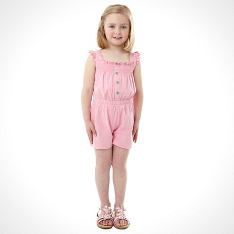bluezoo - Girl+s pack of two pink and green playsuits