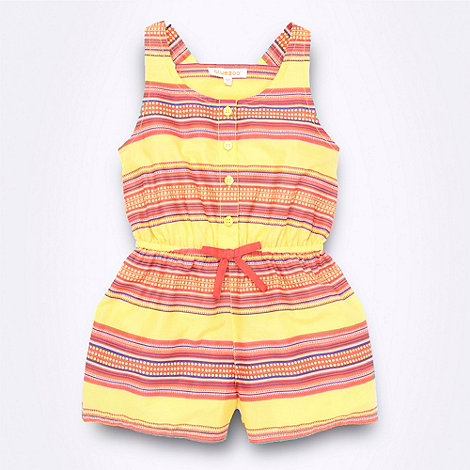bluezoo - Girl+s yellow striped racer back playsuit