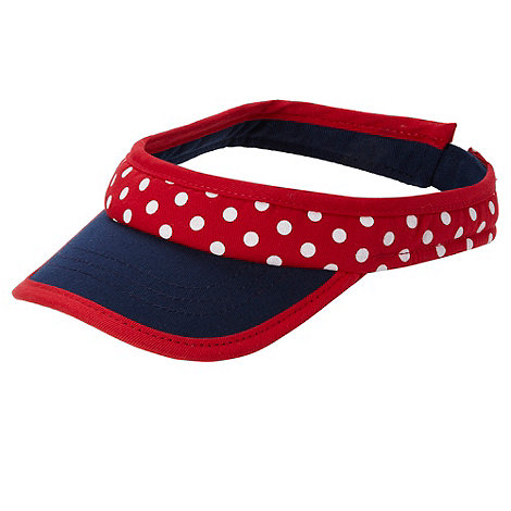 bluezoo - Baby+s red spotted visor