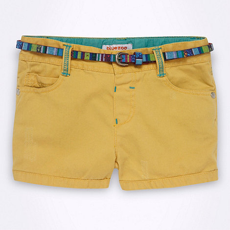 bluezoo - Girl+s yellow belted denim shorts