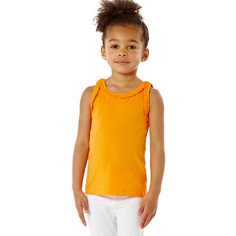 bluezoo - Girl's pack of three frilled trim vests