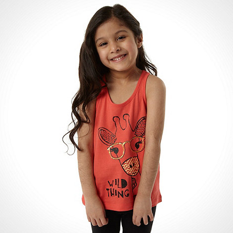 bluezoo - Girl+s pack of two yellow and orange giraffe vests