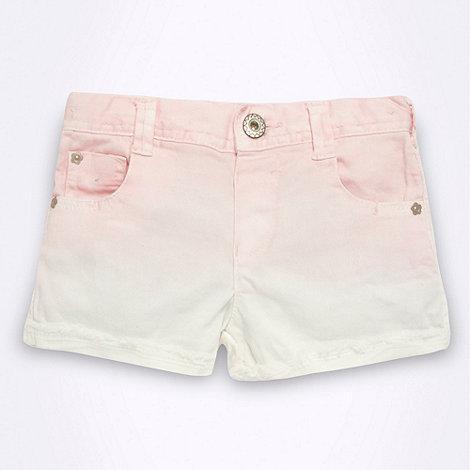 bluezoo - Girl+s pink dip dye denim shorts
