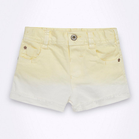 bluezoo - Girl+s yellow dip dye denim shorts