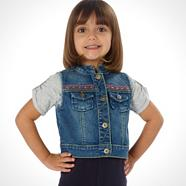 Girl's denim gilet