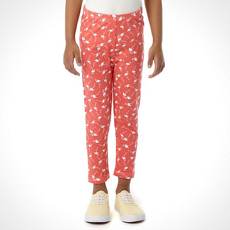 bluezoo - Girl's multi flamingo printed leggings
