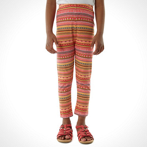 bluezoo - Girl+s pink aztec leggings