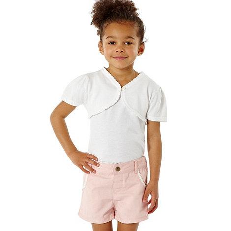 bluezoo - Girl+s white bolero cardigan