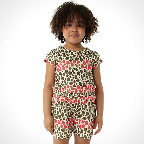 bluezoo - Girl+s pink animal playsuit